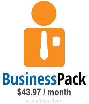 own your web businesspack web hosting from $43.97 / month on a 3 year term with our online company