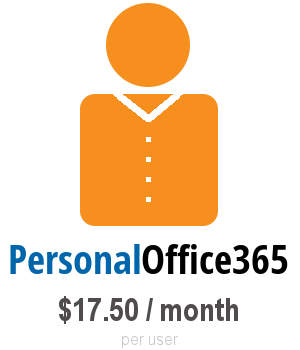 personal office365 $17.50 / month per user