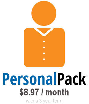 own your web personalpack web hosting from only $8.97 / month on a 3 year term with our online company