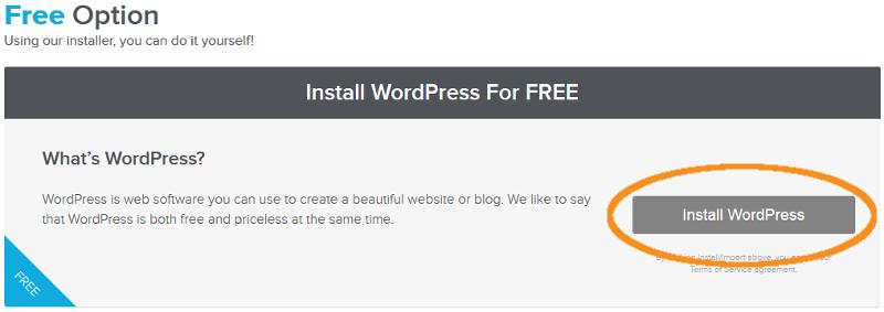 step  3 install wordpress
